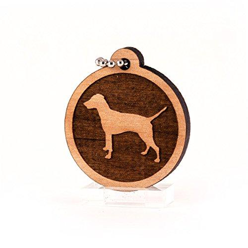 - Sunset Design Lab German Pinscher for AKC Dog Pet American Kennel Club Wood Laser Cut Keychain Charm Ornament