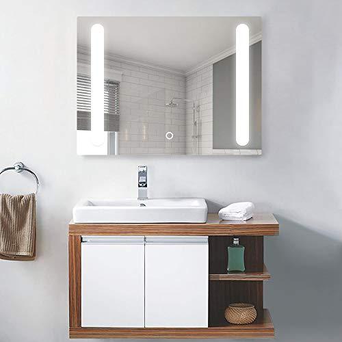 NeuType Bathroom LED Backlit Mirror Vanity Sink Mirror with Anti-Fog Function - - Ikea Bathroom Mirrors
