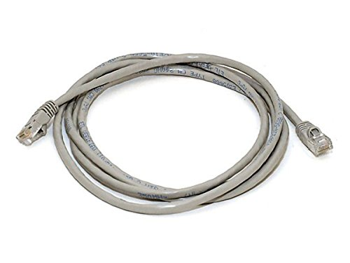 Monoprice 7FT 24AWG Cat5e 350MHz Crossover Ethernet Bare Copper Network Cable - Gray (7 Cat5e Network Foot 350mhz)