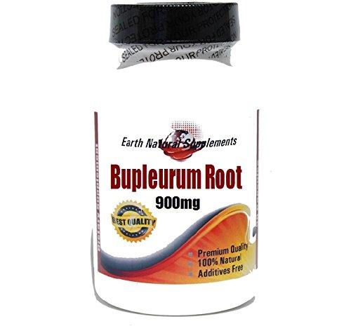 Bupleurum Racine 900mg * 180 capsules 100% naturel - par EarhNaturalSupplements