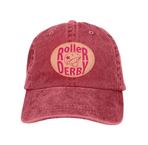 Baseball Caps Trucker Caps Bones Hip Hop Hats for Men Women Roller Derby Helmet Typography red