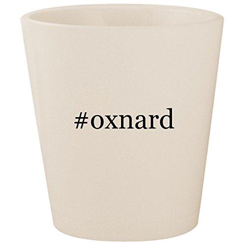 #oxnard - White Hashtag Ceramic 1.5oz Shot Glass