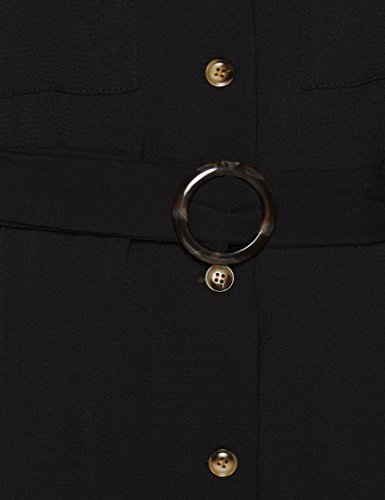 Robe Buckle Femme New Noir Black Look Revere EqxwWzFtT