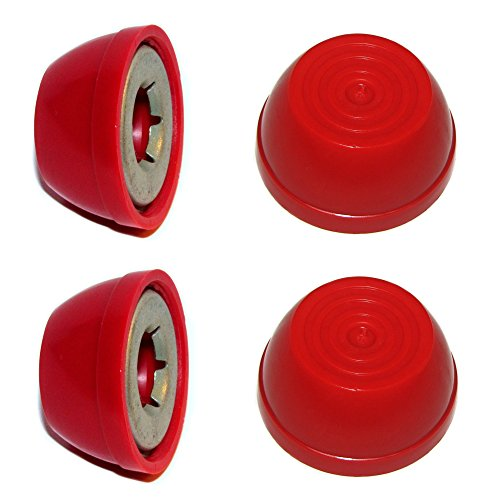 "RED Radio Flyer Steel & Wood WAGON Replacement Large 1/2"" Wheel Hub Caps, 4-pk"