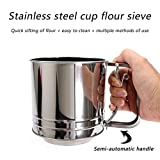 Stainless Steel Flour Sifter with 120ML Measuring