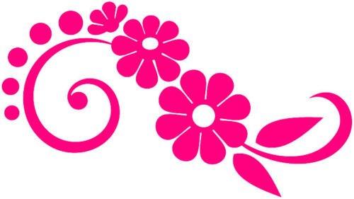 Pink flower daisy vinyl stickers decals car window van amazon pink flower daisy vinyl stickers decals car window van amazon kitchen home mightylinksfo