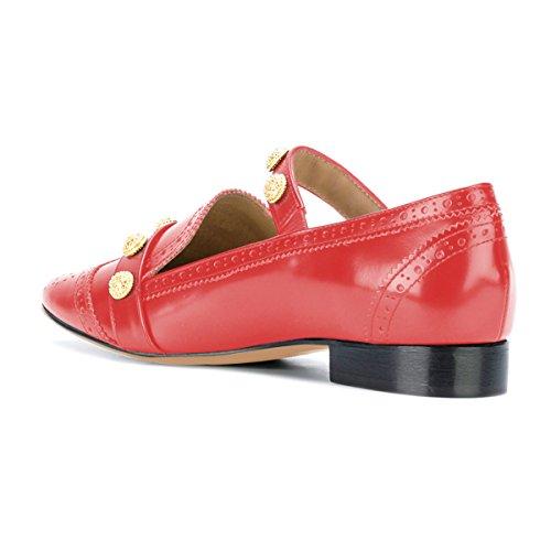Mocassino Xyd Retro Midi Scarpe Mary Jane Tacco Basso Oxford Mocassini Per Donna Arancione Rosso