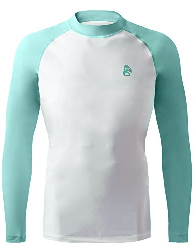 REGNA X ADOONGA Men's Long Sleeve Rashguard UV Sun Protection UPF 50+ Sky Blue Swim Tee
