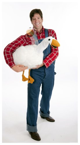 HouseHaunters Big Fat Goose Arm Puppet with Fake Arm, White/Plaid, One Size