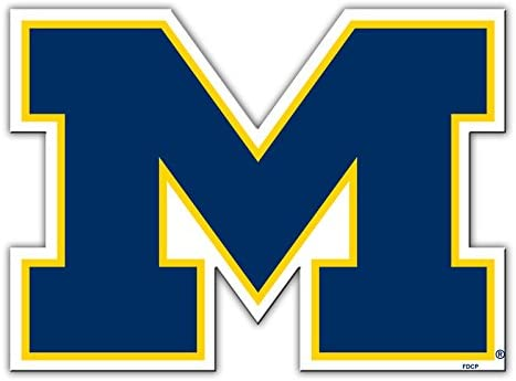 Magnet Approx 12 Diameter Boats Michigan Wolverines Yves Official National Collegiate Athletic Association Fan Shop Authentic NCAA Team Magnet Banner Logo Man Cave Fridge Great for Cars
