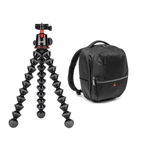 Joby GorillaPod 5K Kit, Black - With Manfrotto Advanced Gear Backpack Medium Black