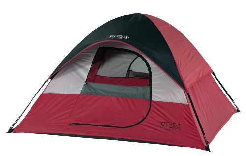 Wenzel Twin Peaks Sport Dome Tent, Red/Black ()