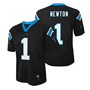 Cam Newton Carolina Panthers #1 NFL Youth Mid-Tier Jersey Black