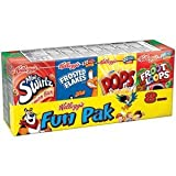 Kellogg's, Cereal Fun Pak, Variety Pack, 8-Count, Assorted Single Serve, 8.56oz Box (Pack of 5) by Kellogg's
