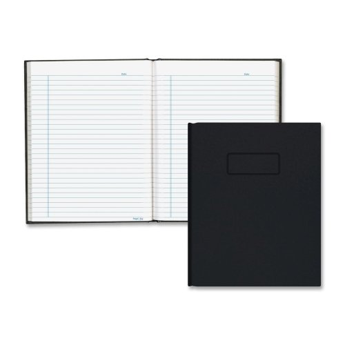 Blueline A9 Business Notebook w/Black Cover College Rule 9-1/4 x 7-1/4 192-Sheets