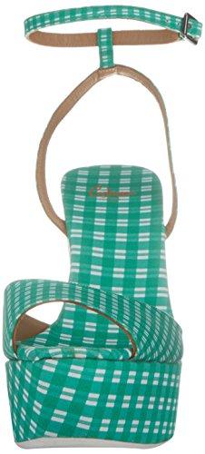 Mujer Cuña Castañer Sandalias Verde 24 Verde 125 Zula de nUUIXSqO