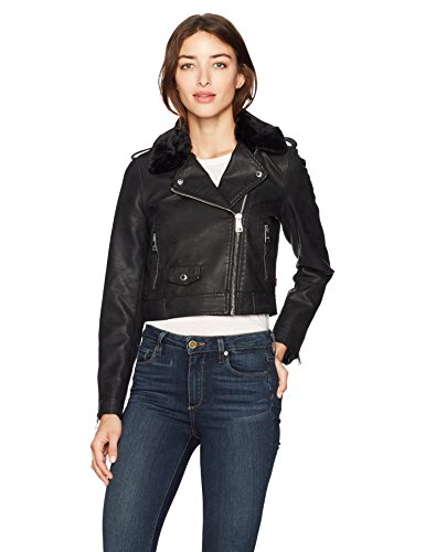 Leather Belted Motorcycle Jacket - 4