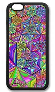Abstract Spice Pattern Customized Hard Black iphone 6 Case On Custom Service