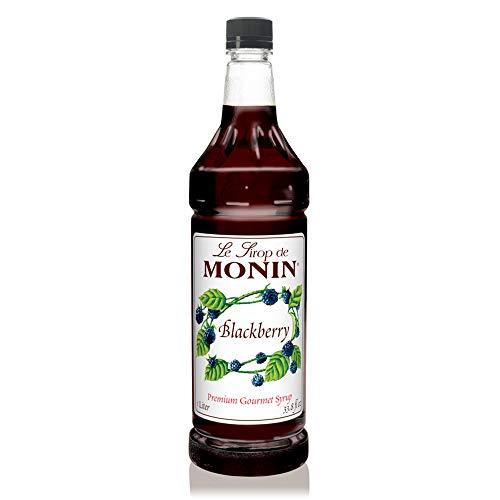 Raspberry Liqueur (Monin - Blackberry Syrup, Soft and Succulent, Great for Cocktails, Lemonades, and Sodas, Gluten-Free, Vegan, Non-GMO (1 Liter))