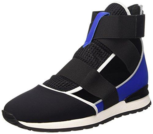 BIKKEMBERGS Damen Kate 652 M.Shoe Cut Out W Lycra/Leather Hohe Sneakers Schwarz (Black/Blue)