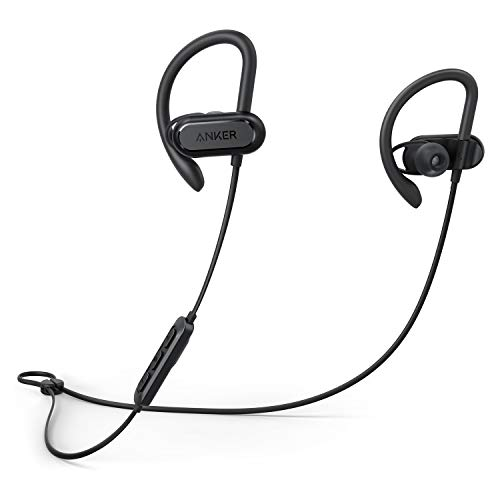 Anker Wireless Headphones, Soundcore Spirit X Bluetooth Sports Headsets w/Mic, Bluetooth 5.0, 12-Hour Battery, Noise Isolation, IPX7 Wireless Earbuds, SweatGuard Technology for Gym Running Workout