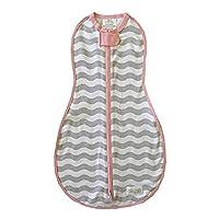Woombie Original Baby Swaddling Blanket - Soothing, Cotton Baby Swaddle - Wearable Baby Blanket, Mod Waves, 14-19 lbs