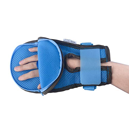 Hand Control Mitts Dementia Safety Restraint Gloves Hand Protectors Personal Safety Devices Finger Control Mitts, 1 Pair (S: 26cm)