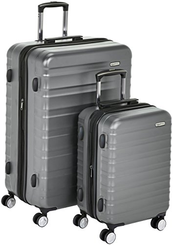 (AmazonBasics Premium Hardside Spinner Luggage with Built-In TSA Lock - 2-Piece Set (20