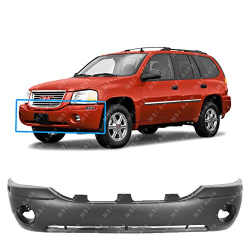 MBI AUTO - Primered, Front Bumper Cover Fascia for 2002-2009 GMC Envoy SUV SLE SLT 02-09, GM1000641