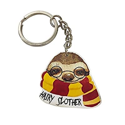 Peachyapricot Hairy Slother Cute Sloth Keychain - Sloth Key Chains
