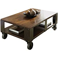Steve Silver Company Barrett Cocktail Table with Casters, 52W x 32D x 19H