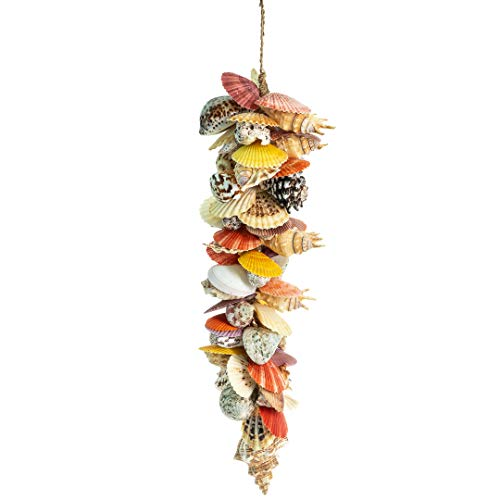 (Garland | Colorful Sea Shell Strand | Decorative Beach Garland with 2in-5in Shells | Beautiful Garland for Nautical Decor| Plus Free Nautical Ebook by Joseph Rains)