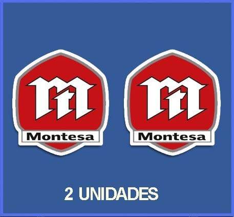 5 cm Ecoshirt 70-8MRX-6Y1M Stickers Montesa R/éf Dp168 Aufkleber Autocollants Stickers Moto Decals Motorcycles