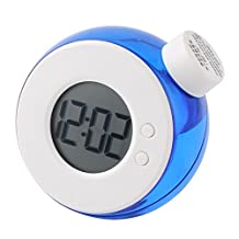 uxcell® Environmental Protection Water Powered Daily Thermometer Timepiece Alarm Clock