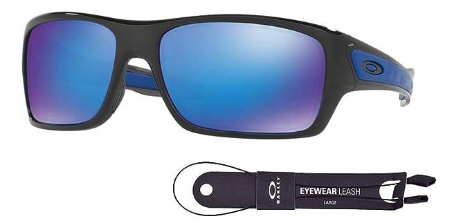 daf4d390f58 Oakley Turbine OO9263 926305 63M Black Ink Sapphire Iridium Sunglasses+BUNDLE  with Oakley Accessory