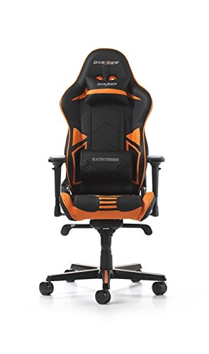 DXRacer OH/RV131/NO Racing ERGO Seat Office Chair Gaming Ergonomic with - Free Head and Lumbar Support Pillows (Black/Orange)