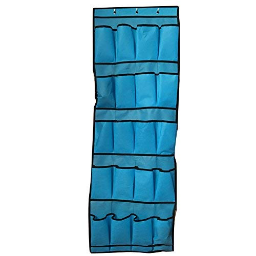 20 Pocket Over The Door Shoe Organizer Rack Hanging Storage Space Saver from UniHappy