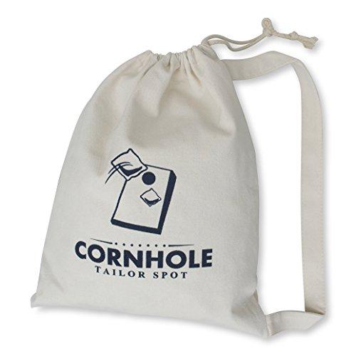 Cornhole Bean Bag Tote - (White)