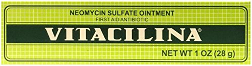 Antibiotic Ointment by Vitacilina  | First Aid Antibiotic Ointment Cream containing Neomycin for Long Lasting Wound Care Protection; 1 - Antibiotic Neomycin Ointment