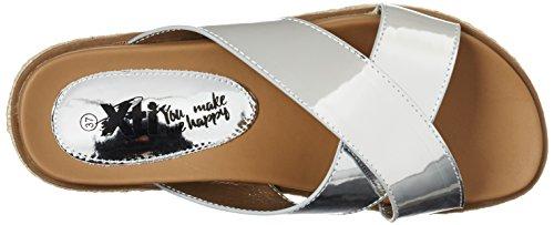 XTI Silver Mirror Pu Ladies Sandals . - Sandalias con cuña Mujer plateado (silver)