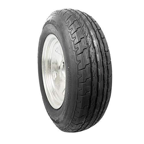 Carlisle ST205/75D15 Sport Trail LH 15x6.00 (5/4.5 Lug Pattern) 8 Spoke Design,Galvanized Steel Trailer Tire & Rim Combo