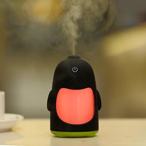 Matoen(TM) Portable Penguin Humidifier Mini Night Light USB Humidifier Air Purifier (Green) by Matoen (Image #2)