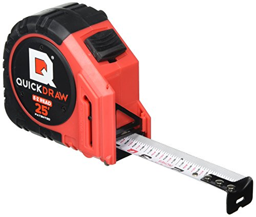 Read Tape Measure (QUICKDRAW PRO EASY-READ Self Marking 25' Foot Tape Measure - 1st Measuring Tape with a Built in Pencil - Contractor Grade Steel Tape - Power Locking Tape Ruler)