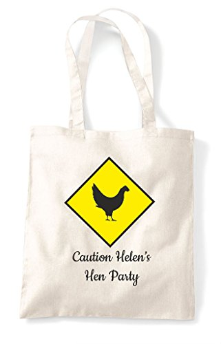 Caution Hens Hen Tote Bag Customised Personalised Do Shopper Party Chicken Natural Warning qwwgET