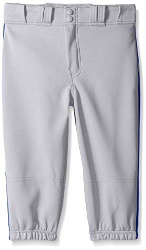 Easton Boys PRO Plus Piped Knicker, Grey/Royal, Small