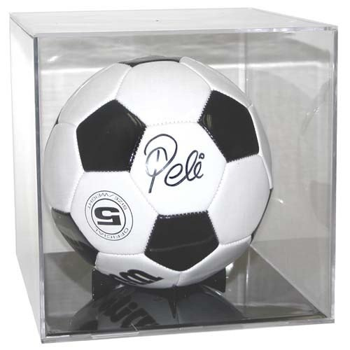 Soccer Ball Display Case Cube Holder with Black Base - Ballqube BK Grandstand (Soccer Ball Display Case compare prices)