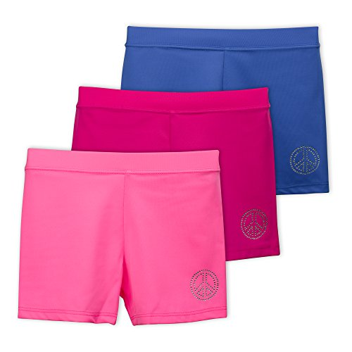 Lucky & Me Ella Girls Dance Shorts, Gymnastics & Dancewear, Pink Lemonade, 3-Pack, 6