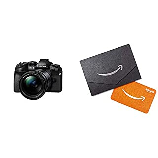 Olympus OM-D E-M1 Mark II Black Body with M.Zuiko Digital 12-200mm F3.5-6.3 Lens Kit with Amazon.com Gift Card in a Mini Envelope