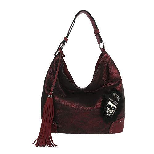 design L'épaule Ital Rouge Pour Porter Femme À Sac Bordeaux Sx4wxq