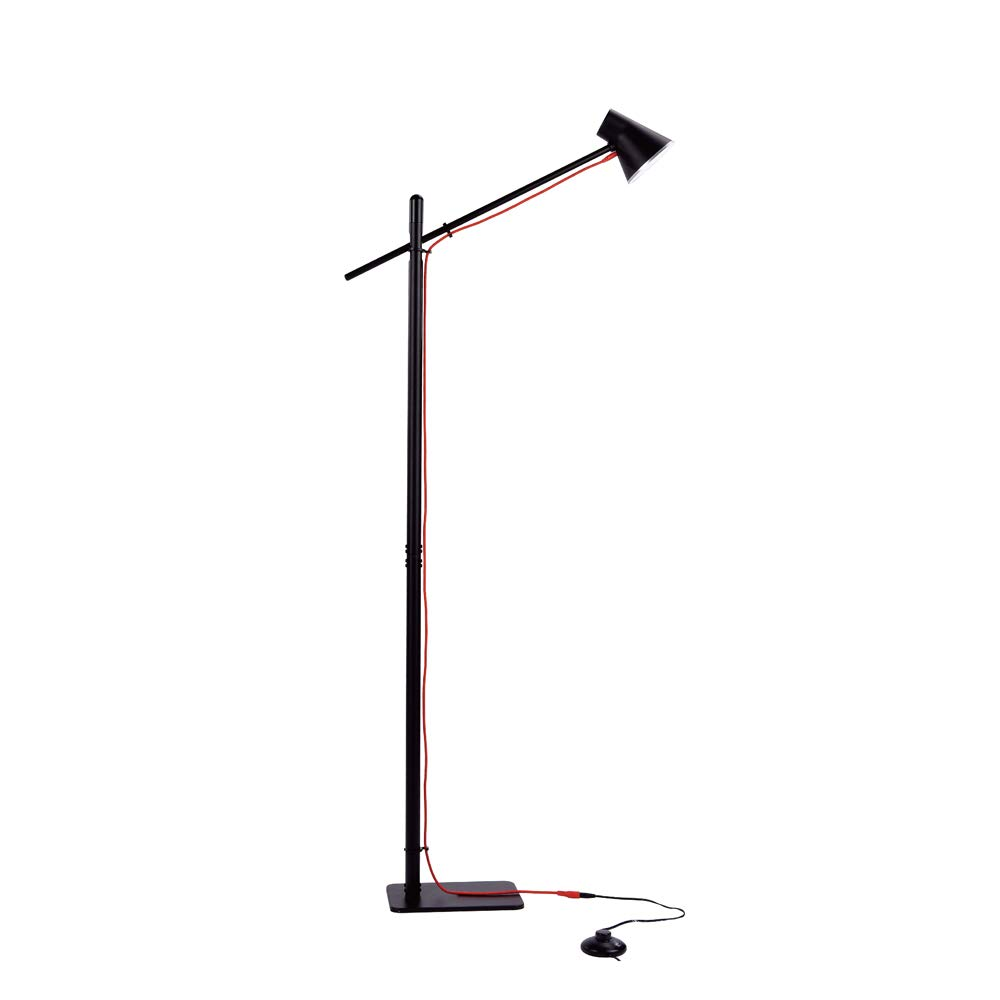 Ominilight LED Floor Lamps with Reading Light - Modern Craft Black Standing Lamps - Adjustable Bright Tall Lamps Eye-Caring for Living Room/Bedroom/Bedside/Office